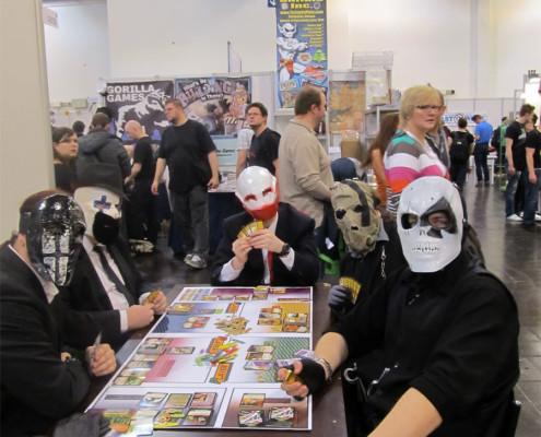 Slipknot grający w planszówkę Slayer